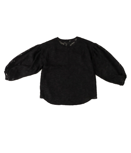 【低身長向けサイズ】カットジャカードボリュームスリーブブラウス(トップス/シャツ・ブラウス) | AULI