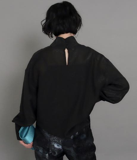 【低身長向けサイズ】シアースタンドネックブラウス(トップス/シャツ・ブラウス) | AULI