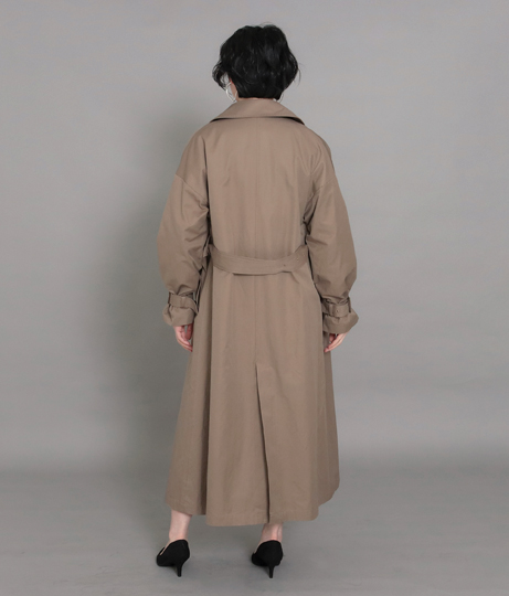 【低身長向けサイズ】オーバーサイズロングトレンチコート(アウター(コート・ジャケット) /コート (トレンチコート・ロングコート) )   AULI