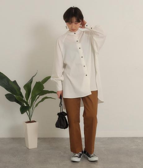 綿ツイル チノパンツ(ボトムス・パンツ /ガウチョパンツ ・ワイドパンツ ・ロングパンツ) | Factor=