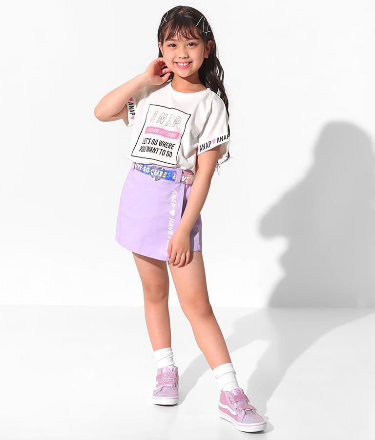 袖ロールアップドルマンTシャツ(トップス/Tシャツ) | ANAP KIDS