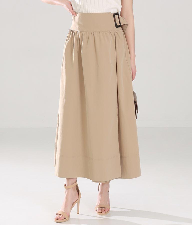 ラップベルトトレンチスカート