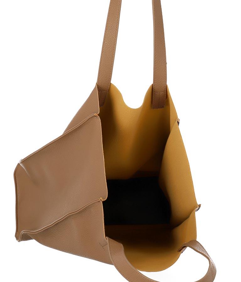 柔らか合皮ポーチ付バック(バッグ・鞄・小物/ハンドバッグ・トートバッグ) | anap mimpi