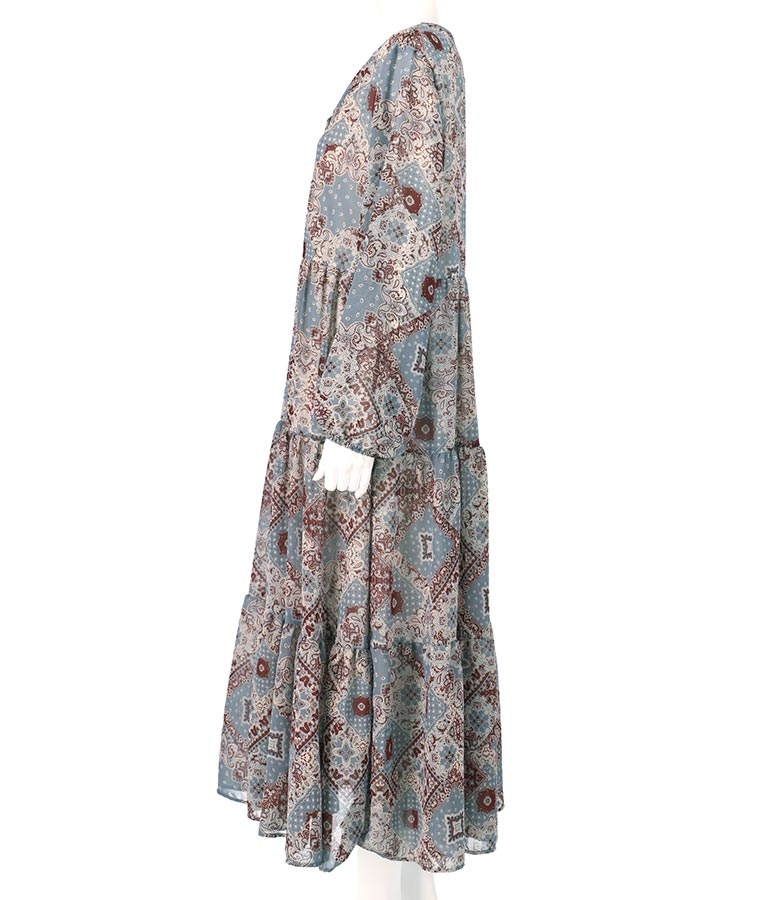 ペイズリーシフォンワンピース(ワンピース・ドレス/ロングワンピ) | anap mimpi