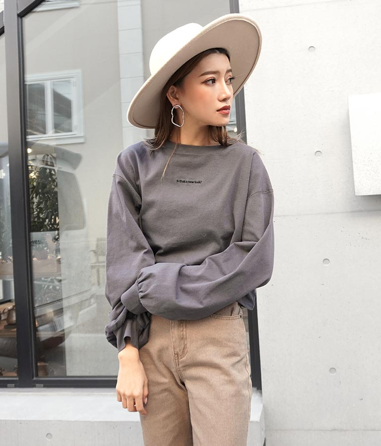 刺繍クロップドロンT(トップス/Tシャツ・ロングTシャツ) | ANAP