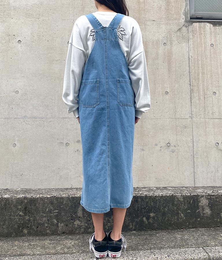 デニムオーバーオールスカート(ワンピース・ドレス/サロペット/オールインワン) | anap mimpi