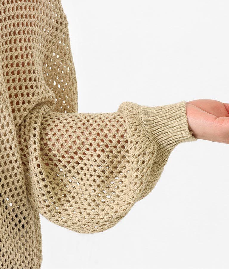 透かしメッシュ編みチュニック(トップス/チュニック) | anap Latina
