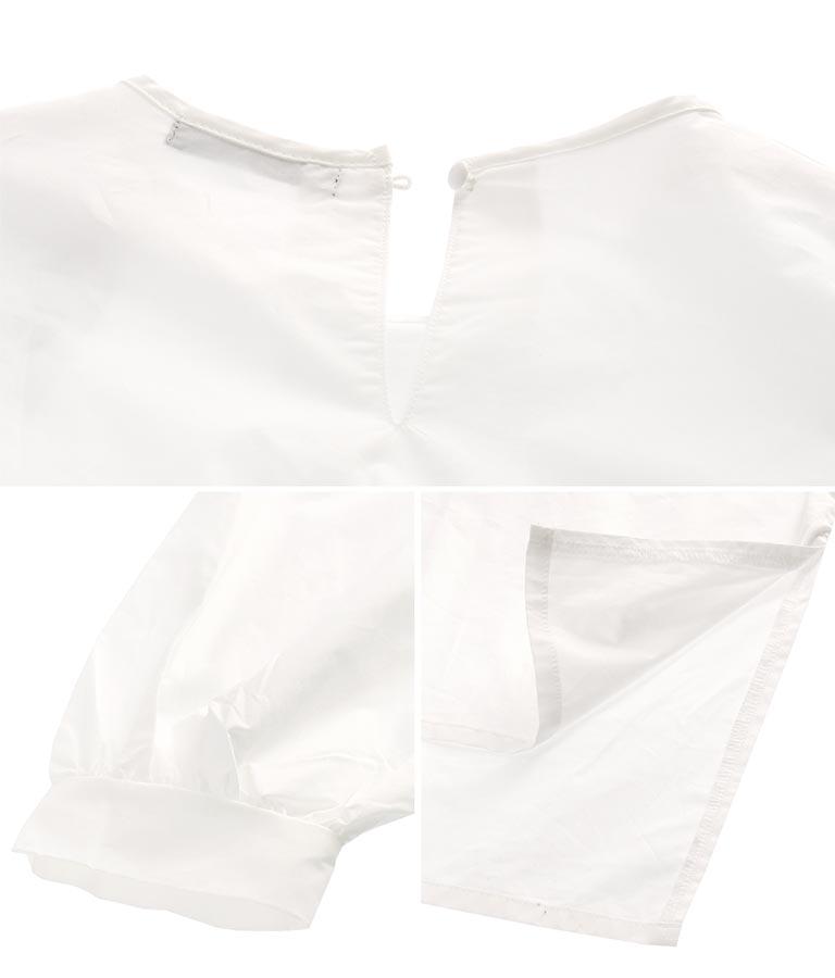 ボリュームスリーブブラウス+サロペセット(ワンピース・ドレス/サロペット/オールインワン) | Alluge