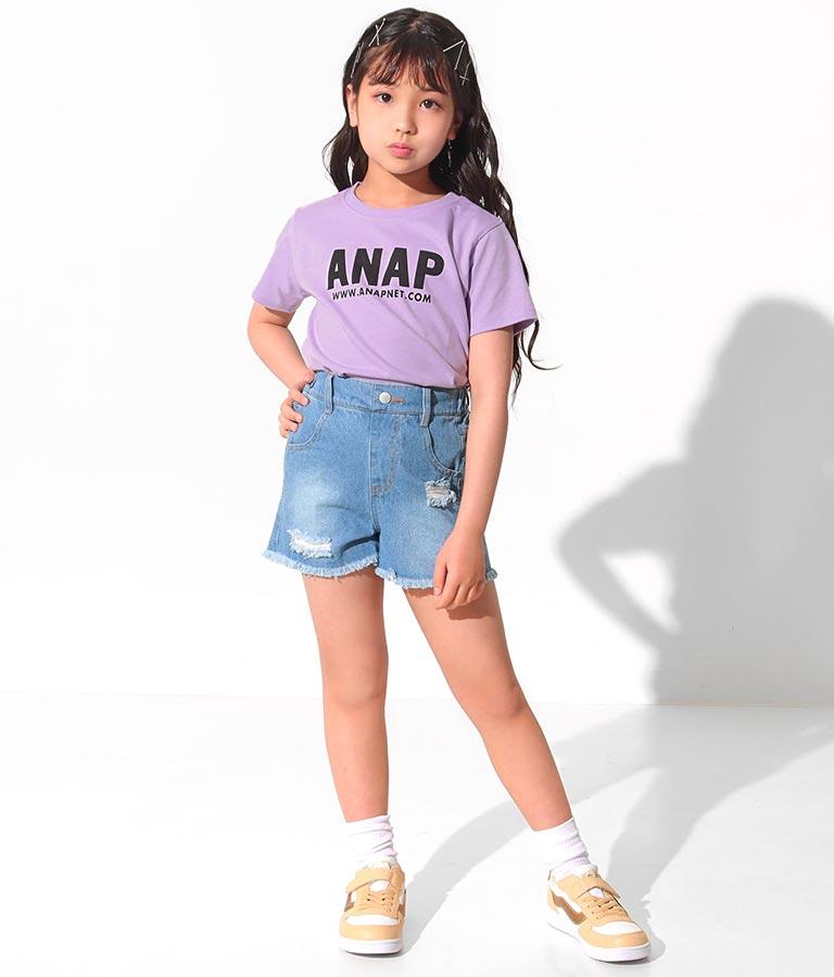 吸水速乾アドレスロゴTシャツ(トップス/Tシャツ) | ANAP KIDS