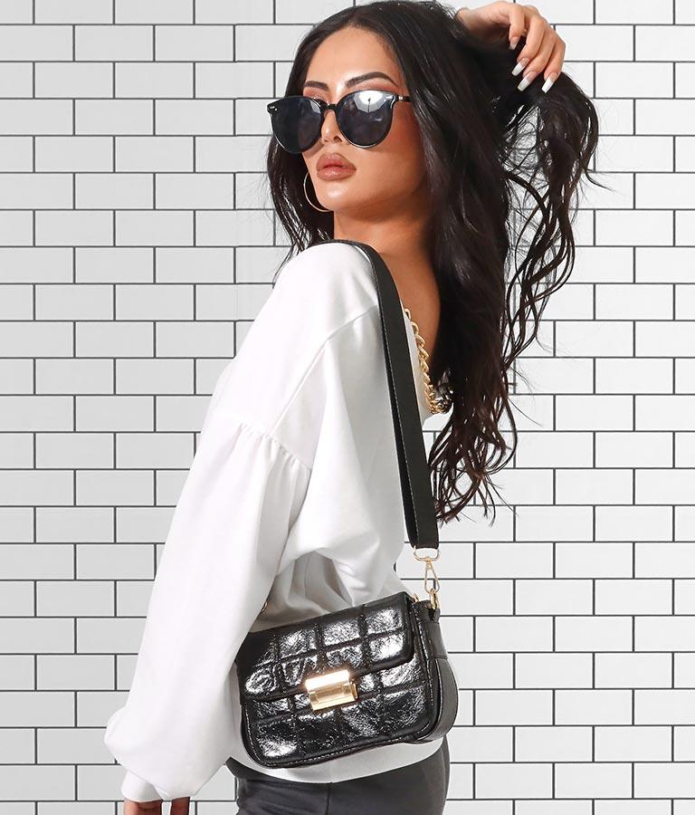シャイニーディティールスクエアショルダーバッグ(バッグ・鞄・小物/ショルダーバッグ) | anap Latina