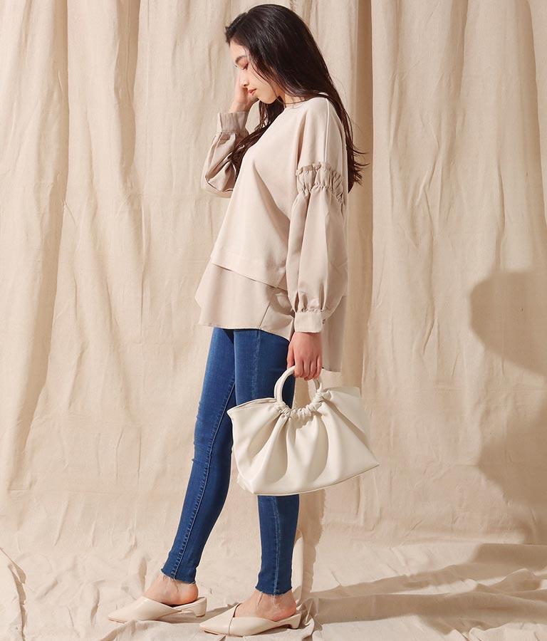リングハンドルバッグ(バッグ・鞄・小物/ハンドバッグ・ショルダーバッグ) | Alluge