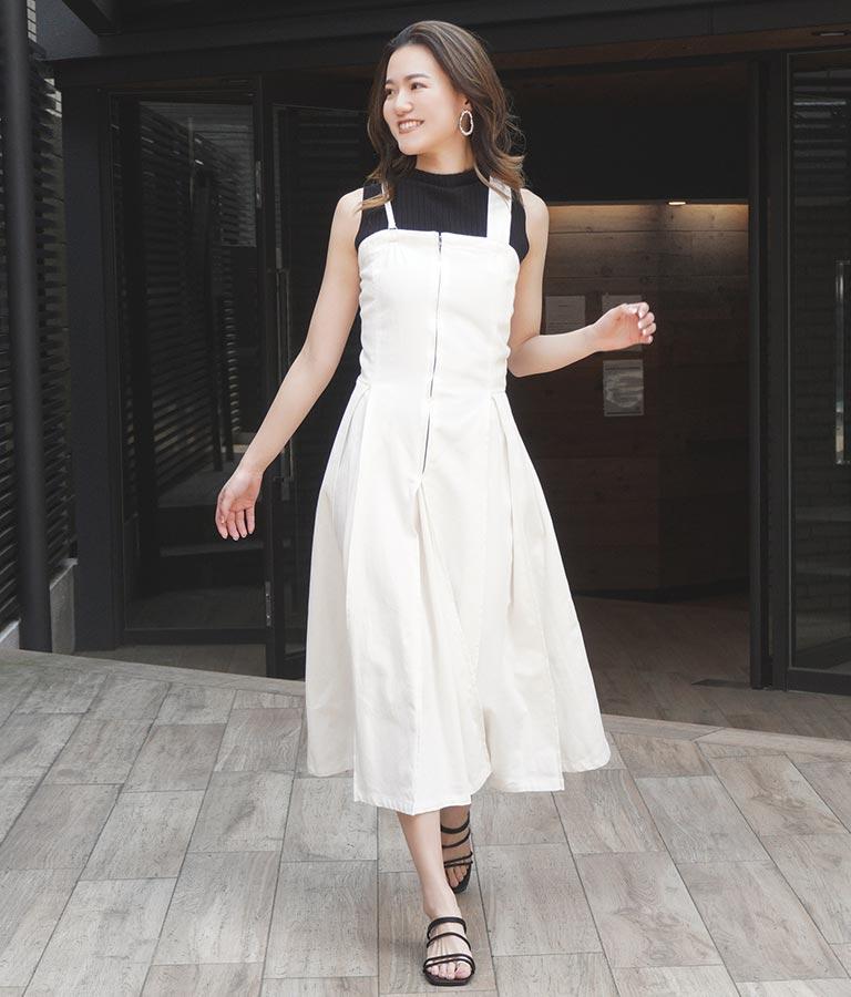 カツラギタックデザインジャンパースカート