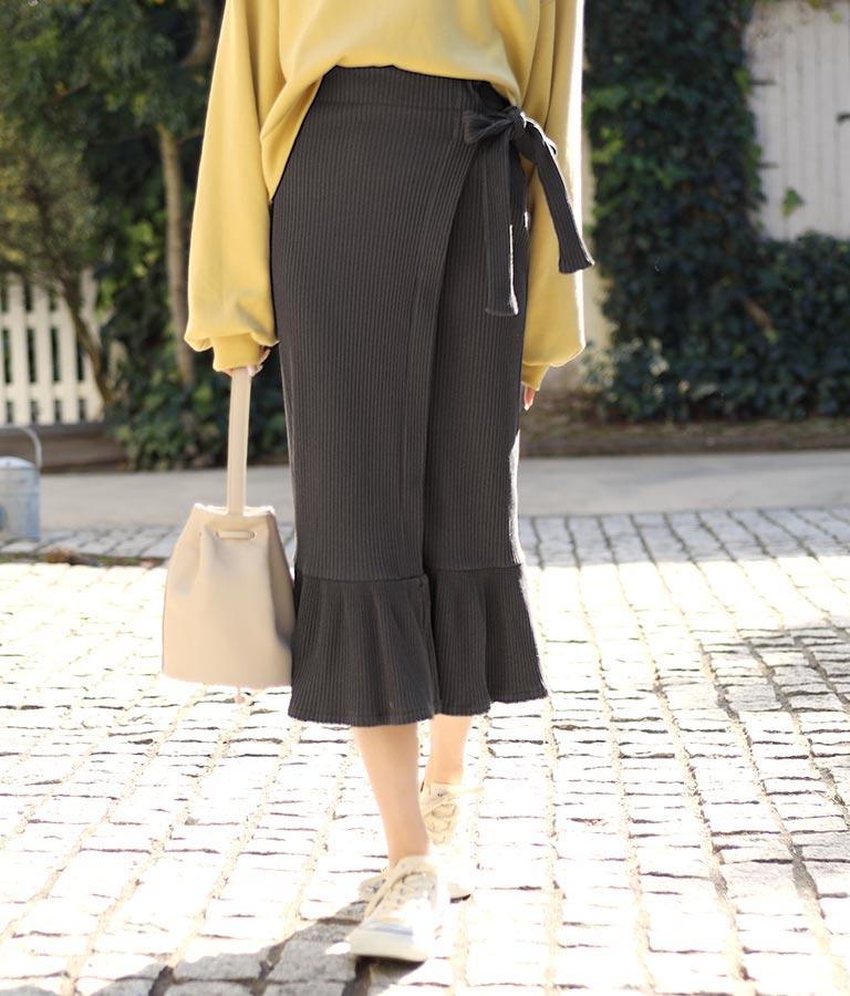 リブ巻きマーメイドスカート