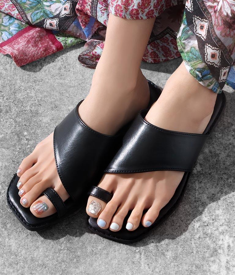 スクエアトングサンダル(シューズ・靴/サンダル)   Alluge