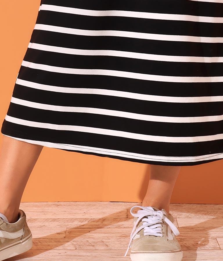 ボーダーオーバーオールワンピース(ワンピース・ドレス/ロングワンピ) | anap mimpi