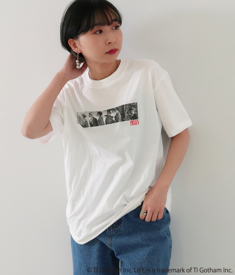 LIFEプリントTシャツ(トップス/Tシャツ) | Factor=