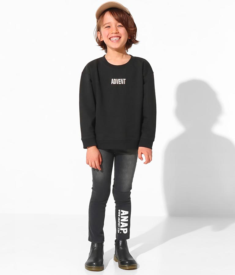 刺繍×バッグロゴミニ裏トップス(トップス/スウェット・トレーナー) | ANAP KIDS