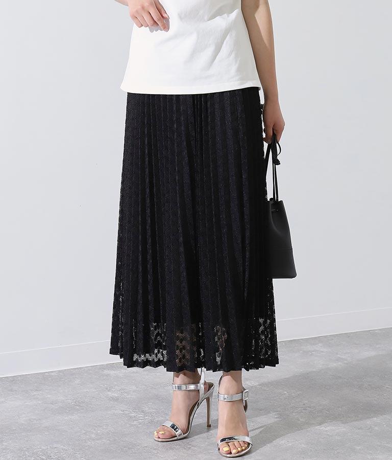 ニットレースプリーツスカート(ボトムス・パンツ /スカート) | Alluge