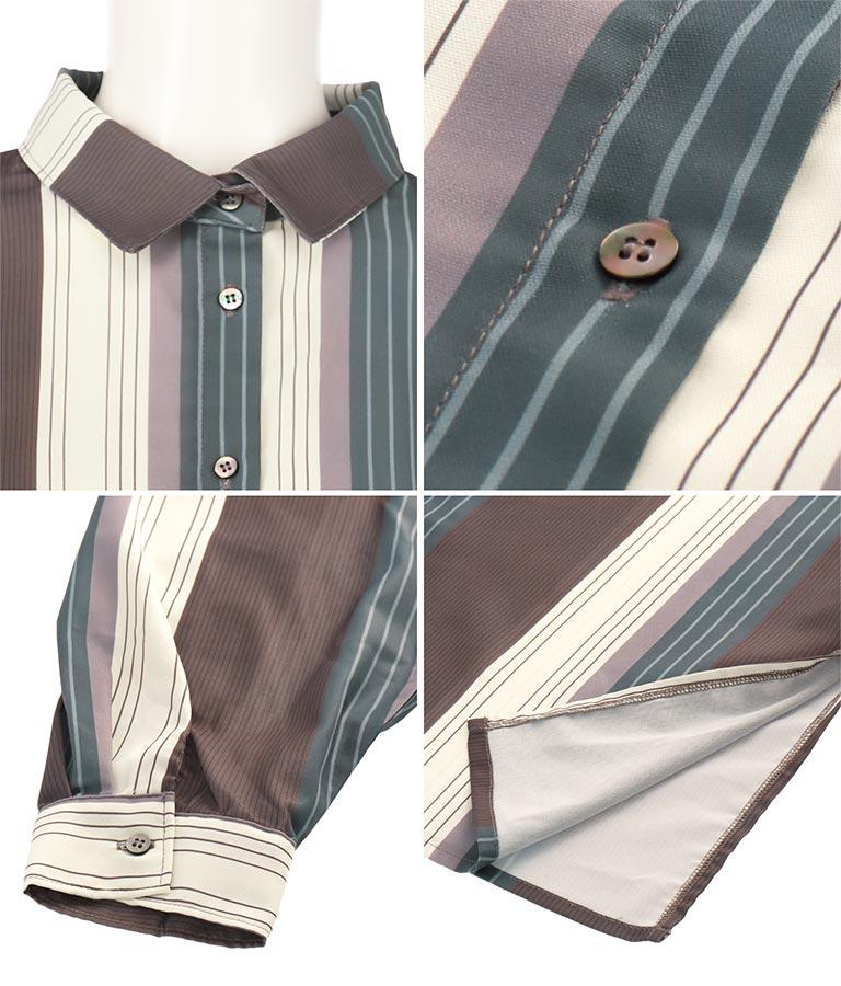 マルチストライプビッグシャツ | Alluge