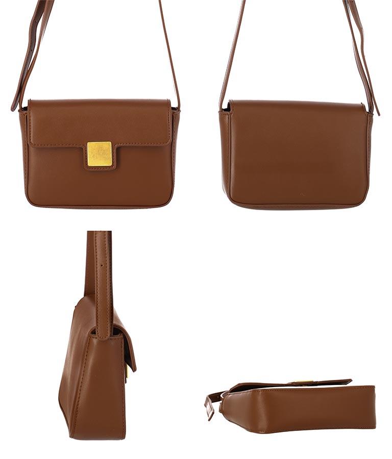 ゴールド金具ショルダーバッグ(バッグ・鞄・小物/ショルダーバッグ・ショルダーポシェット) | CHILLE
