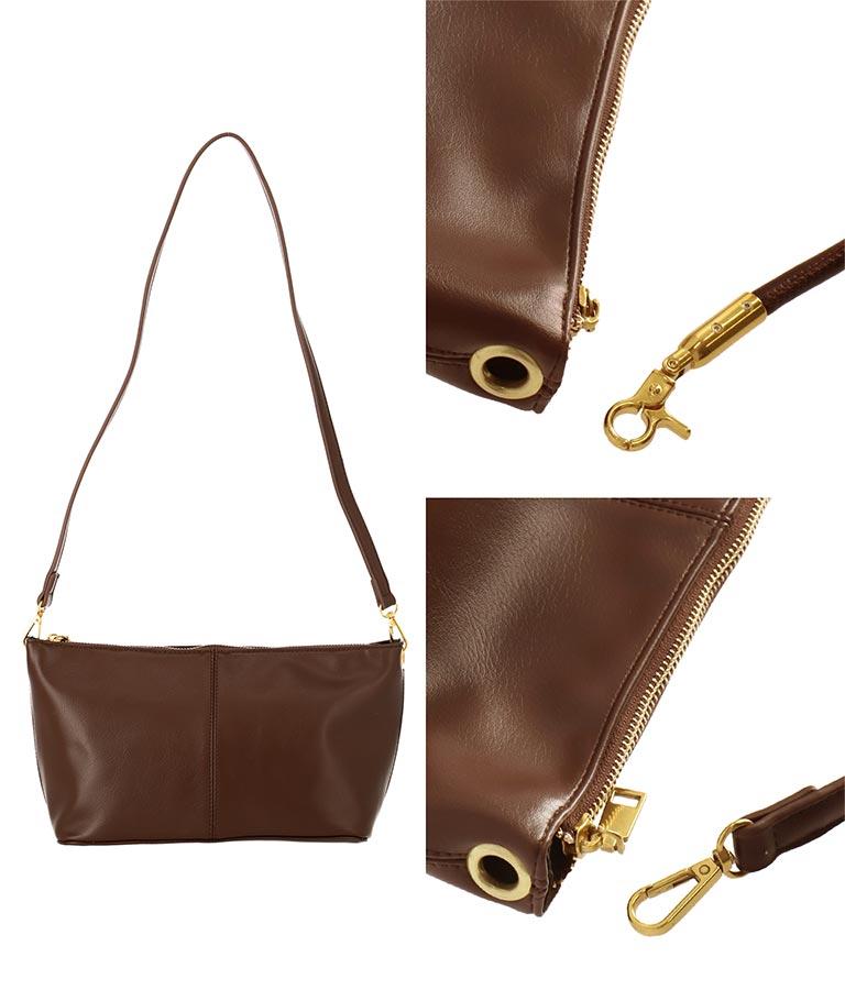 ゴールドポイント横長ショルダーバッグ(バッグ・鞄・小物/ハンドバッグ・ショルダーバッグ) | CHILLE