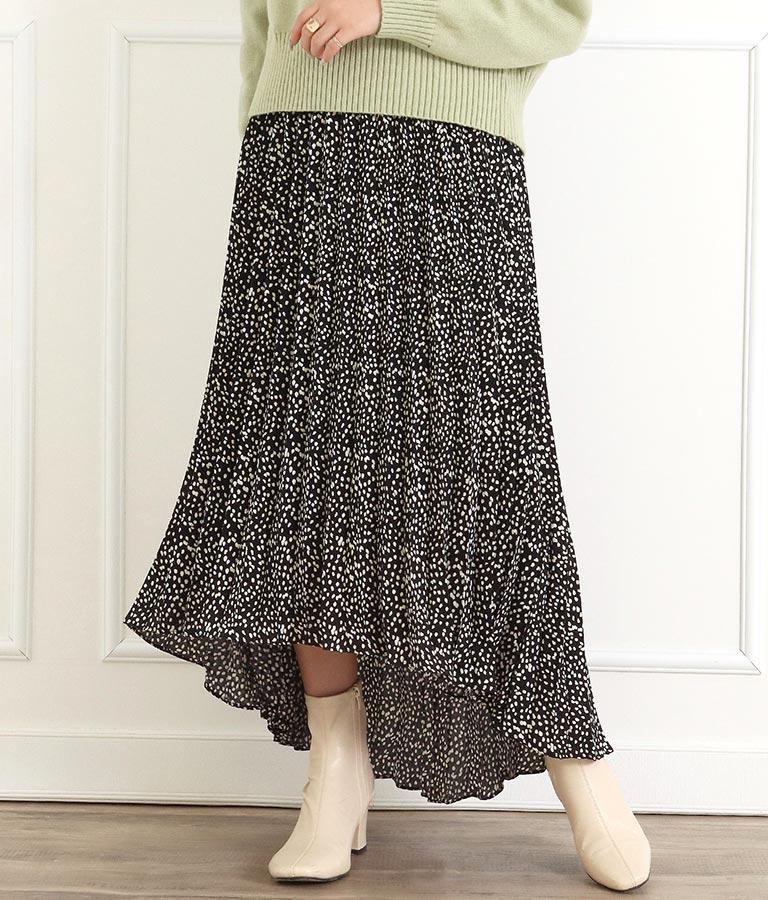 ダルメシアン柄プリーツイレヘムスカート(ボトムス・パンツ /スカート) | CHILLE