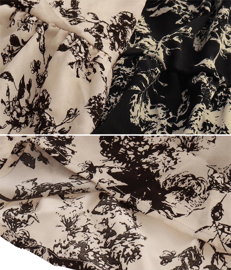 花柄カシュクールロングワンピース(ワンピース・ドレス/ロングワンピ)   CHILLE