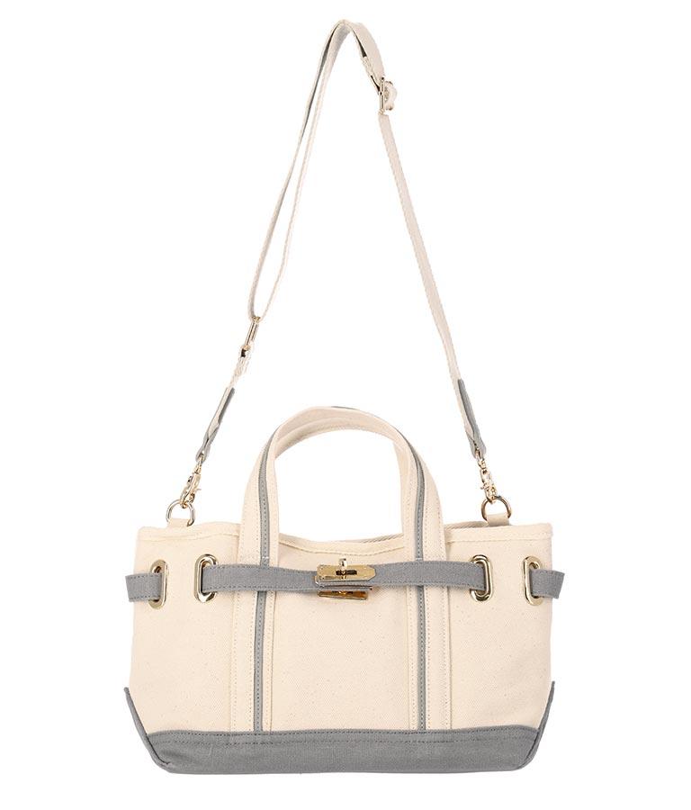 バイカラーキャンバストートバッグ(バッグ・鞄・小物/トートバッグ) | Alluge