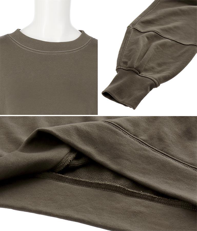 袖タック配色ステッチトレーナー(トップス/スウェット・トレーナー) | Alluge