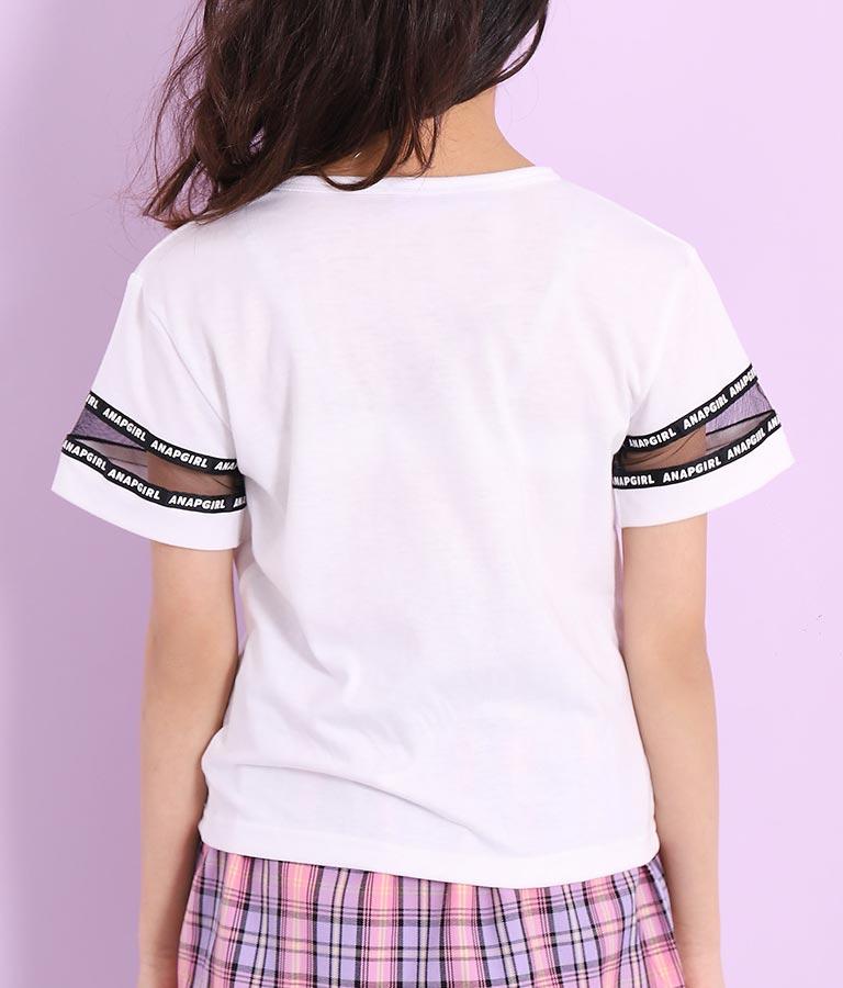 袖チュール前クロストップス(トップス/Tシャツ) | ANAP GiRL