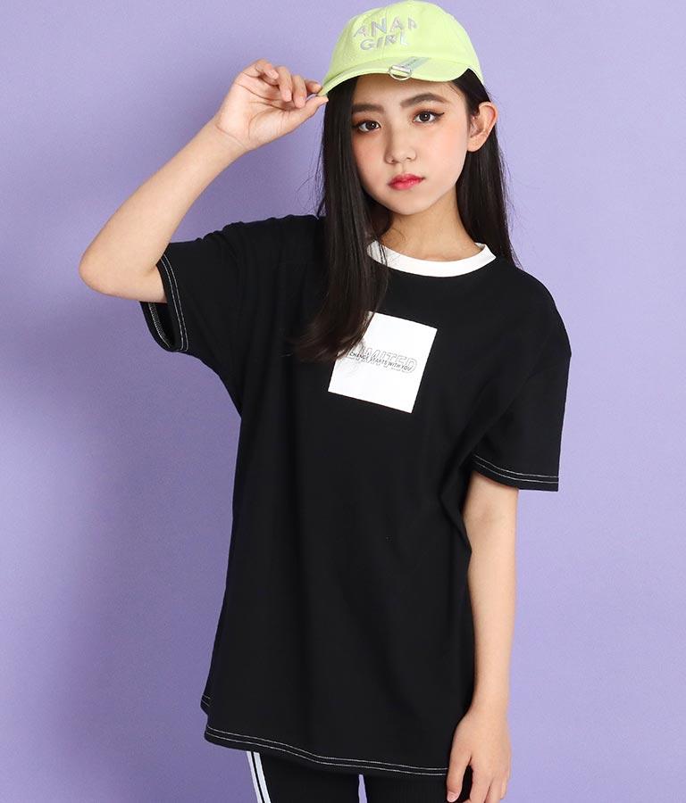 前ボックス配色ビッグTシャツ(トップス/Tシャツ) | ANAP GiRL