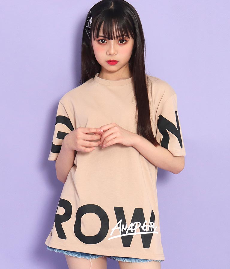 裾ビッグロゴビッグTシャツ(トップス/Tシャツ) | ANAP GiRL