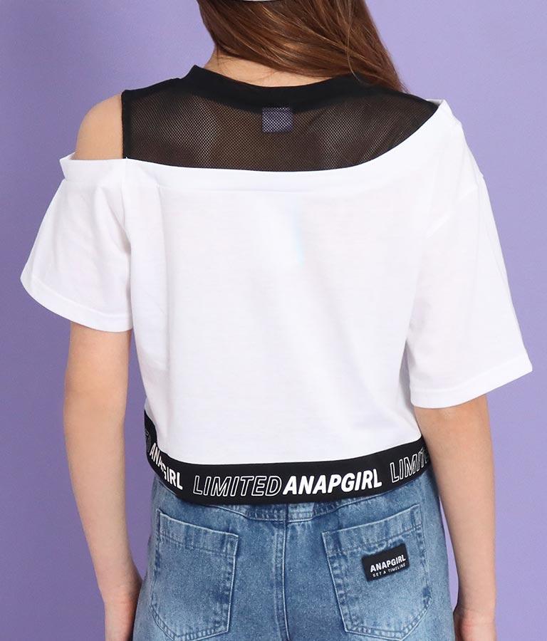 メッシュ切替クロップドトップス(トップス/Tシャツ) | ANAP GiRL