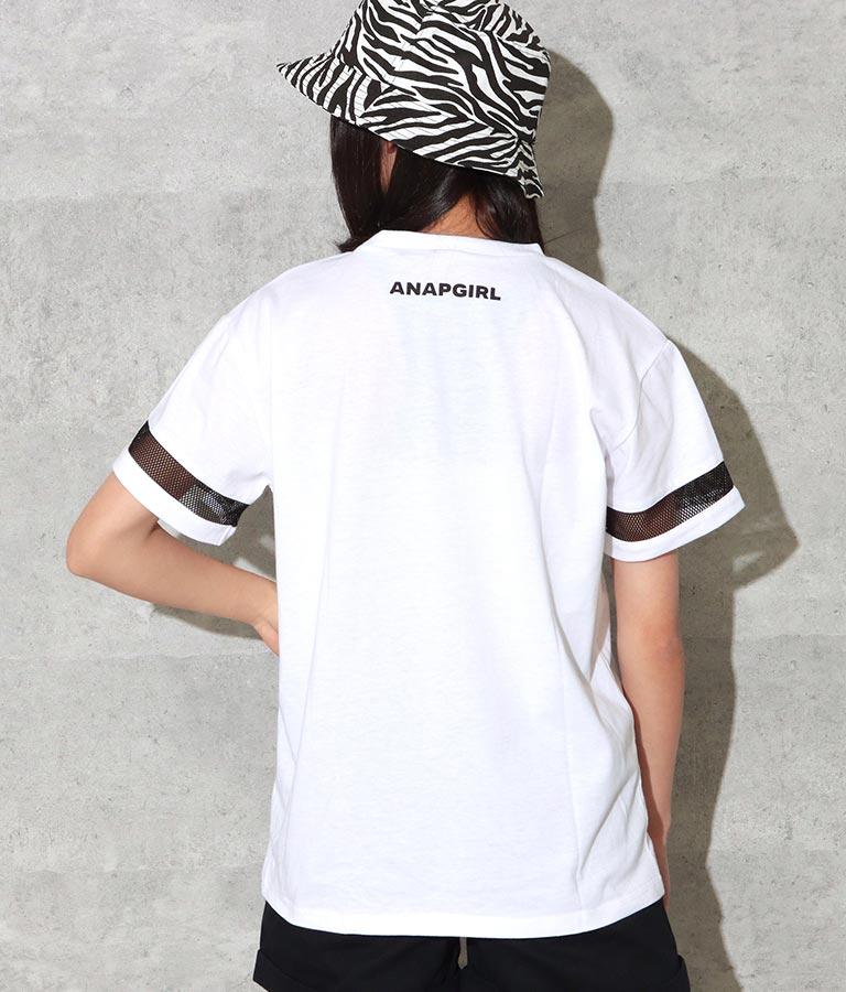 ジョリー&パンチ袖メッシュTシャツ(トップス/Tシャツ) | ANAP GiRL