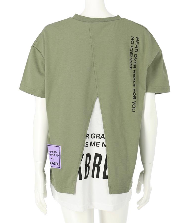 バックスリットレイヤード風トップス(トップス/Tシャツ) | ANAP GiRL