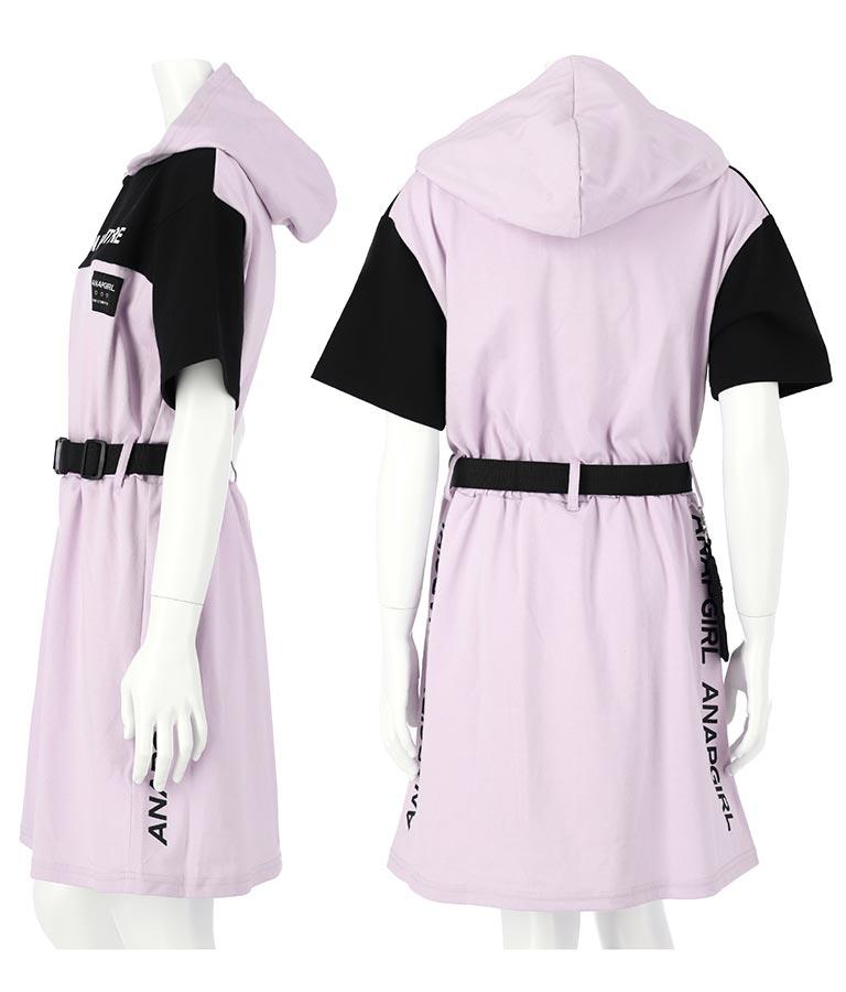 ポシェット付きフードワンピース(ワンピース・ドレス/ミディアムワンピ) | ANAP GiRL