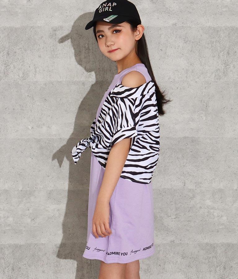 シャツレイヤード風ワンピース(ワンピース・ドレス/ミディアムワンピ) | ANAP GiRL