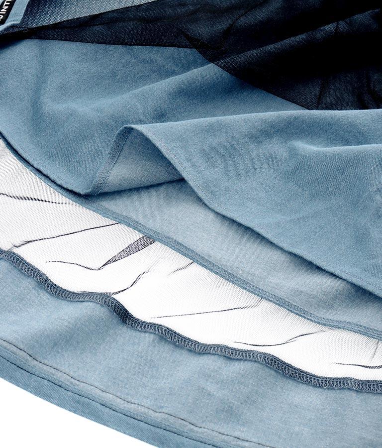 肩あきチュール重ねデニムワンピース(ワンピース・ドレス/ミディアムワンピ) | ANAP GiRL