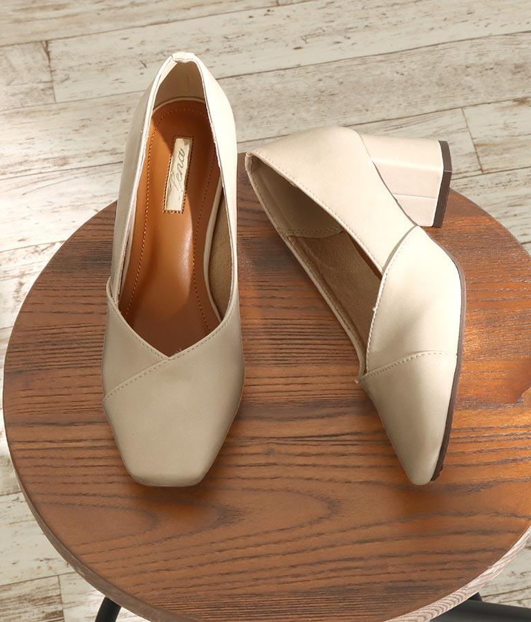 切替デザインスクエアカットパンプス(シューズ・靴/パンプス) | CHILLE