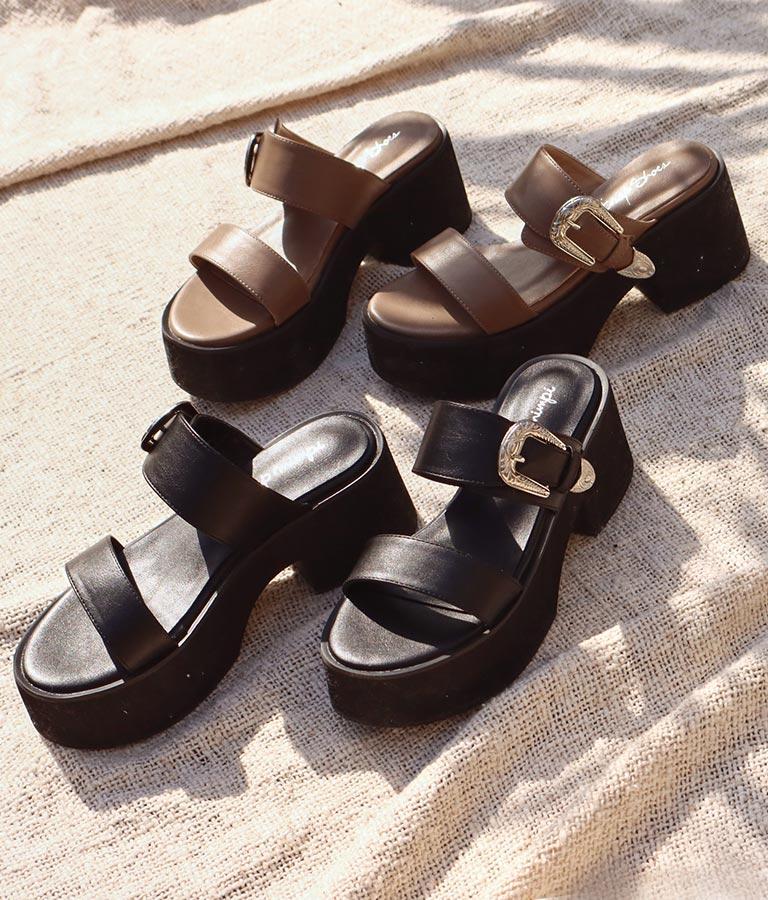ベルト付厚底サンダル(シューズ・靴/サンダル) | anap mimpi