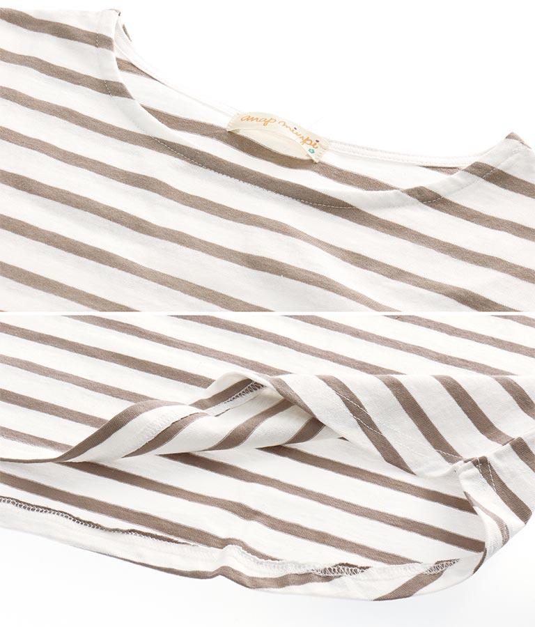 ボーダー5分袖Tシャツ(トップス/Tシャツ)   anap mimpi