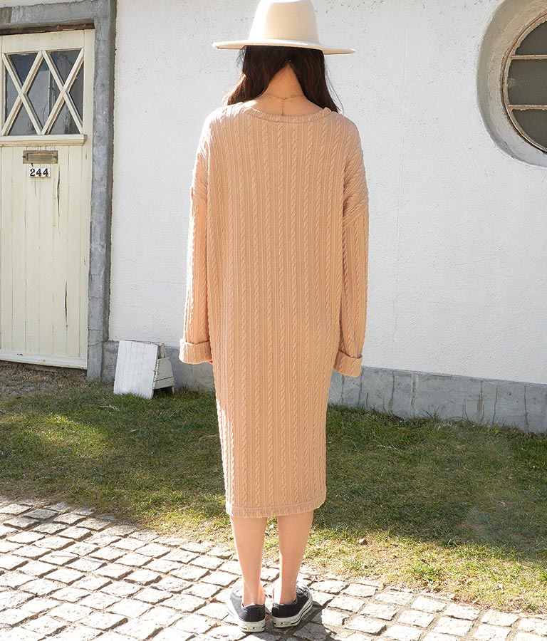 ゆったりケーブルニットソーワンピース(ワンピース・ドレス/ロングワンピ) | anap mimpi