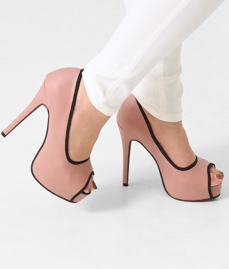 パイピングプラットフォームオープントゥパンプス(シューズ・靴/パンプス) | anap Latina