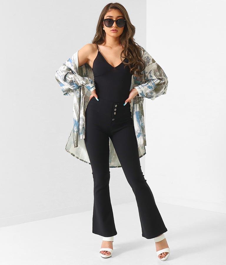 ペイント柄ビッグシャツ(トップス/チェックシャツ・シャツ・ブラウス) | anap Latina