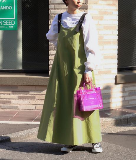 ショルダーベルトジャンパースカート(ワンピース・ドレス/ロングワンピ)   Factor=