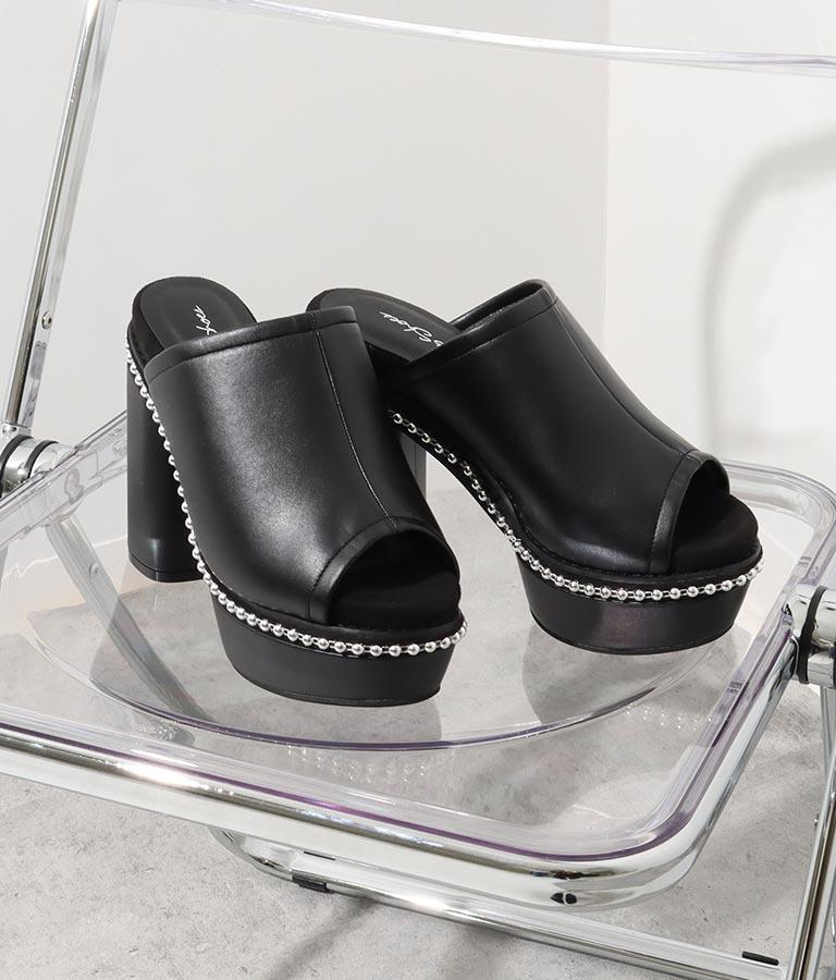 スタッズ厚底サンダル(シューズ・靴/サンダル) | ANAP