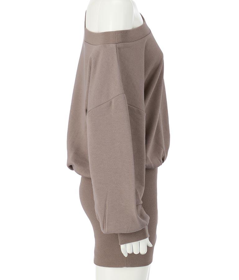 アシンメトリースウェットドルマンワンピース(ワンピース・ドレス/ミニワンピ) | ANAP