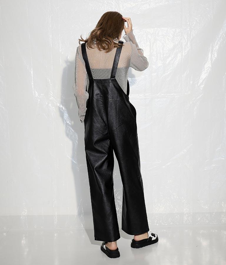 エコレザーサロペット(ワンピース・ドレス/サロペット/オールインワン)   ANAP
