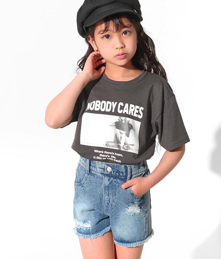 クラッシュデニムショートパンツ(ボトムス・パンツ /ショートパンツ)   ANAP KIDS