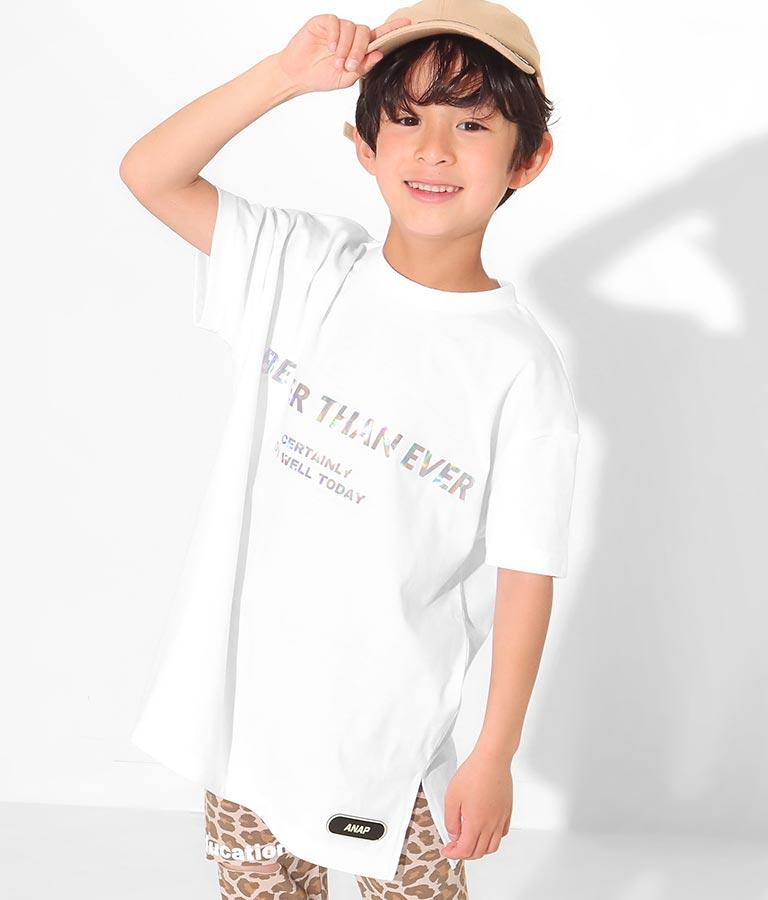 ホログラムロゴビックTシャツ(トップス/Tシャツ) | ANAP KIDS